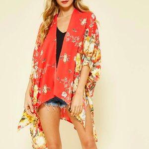 Floral Waterfall Kimono   Promesa   Size Med